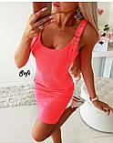 Женское платье приталенное неоновых цветов, фото 4