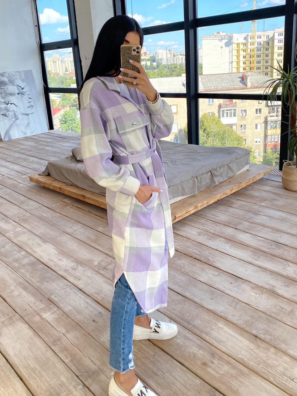 Женское удлинённое пальто рубашка