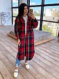 Женское удлинённое пальто рубашка, фото 4