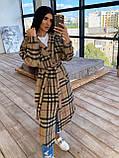 Женское удлинённое пальто рубашка, фото 6