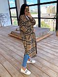 Женское удлинённое пальто рубашка, фото 7