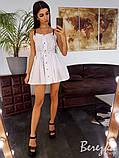 Коттоновое платье на ремешках, фото 6