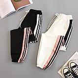 Женские идеальные джоггеры с пудровыми полосками, на резинке, фото 4