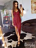 Шелковое платье с ассиметричной юбкой, фото 5