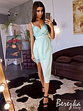 Шелковое платье с ассиметричной юбкой, фото 7