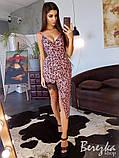 Шелковое платье с ассиметричной юбкой, фото 8