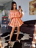 Шифоновое платье с оборками, фото 2
