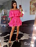 Шифоновое платье с оборками, фото 3