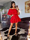 Шифоновое платье с оборками, фото 4