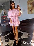 Шифоновое платье с оборками, фото 5