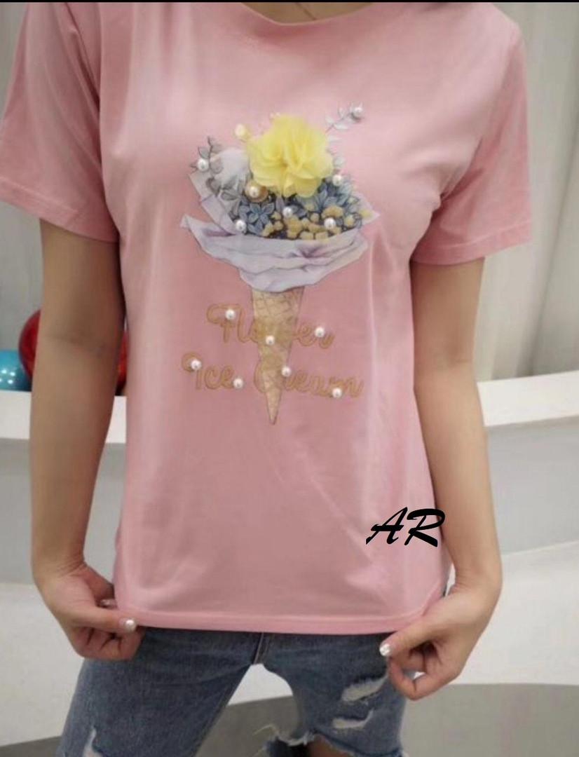 Женская трендовая футболка в разных расцветках