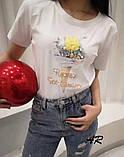 Женская трендовая футболка в разных расцветках, фото 2