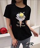 Женская трендовая футболка в разных расцветках, фото 3