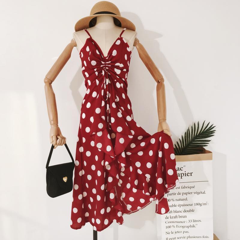 Стильное повседневное женское платье  в горох