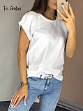 Женская базовая хлопковая футболка, фото 3