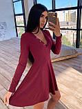 Женское Платье с идеальной посадкой, V-образный вырез, фото 4