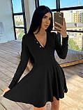 Женское Платье с идеальной посадкой, V-образный вырез, фото 6