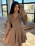 Женское Платье с идеальной посадкой, V-образный вырез, фото 10