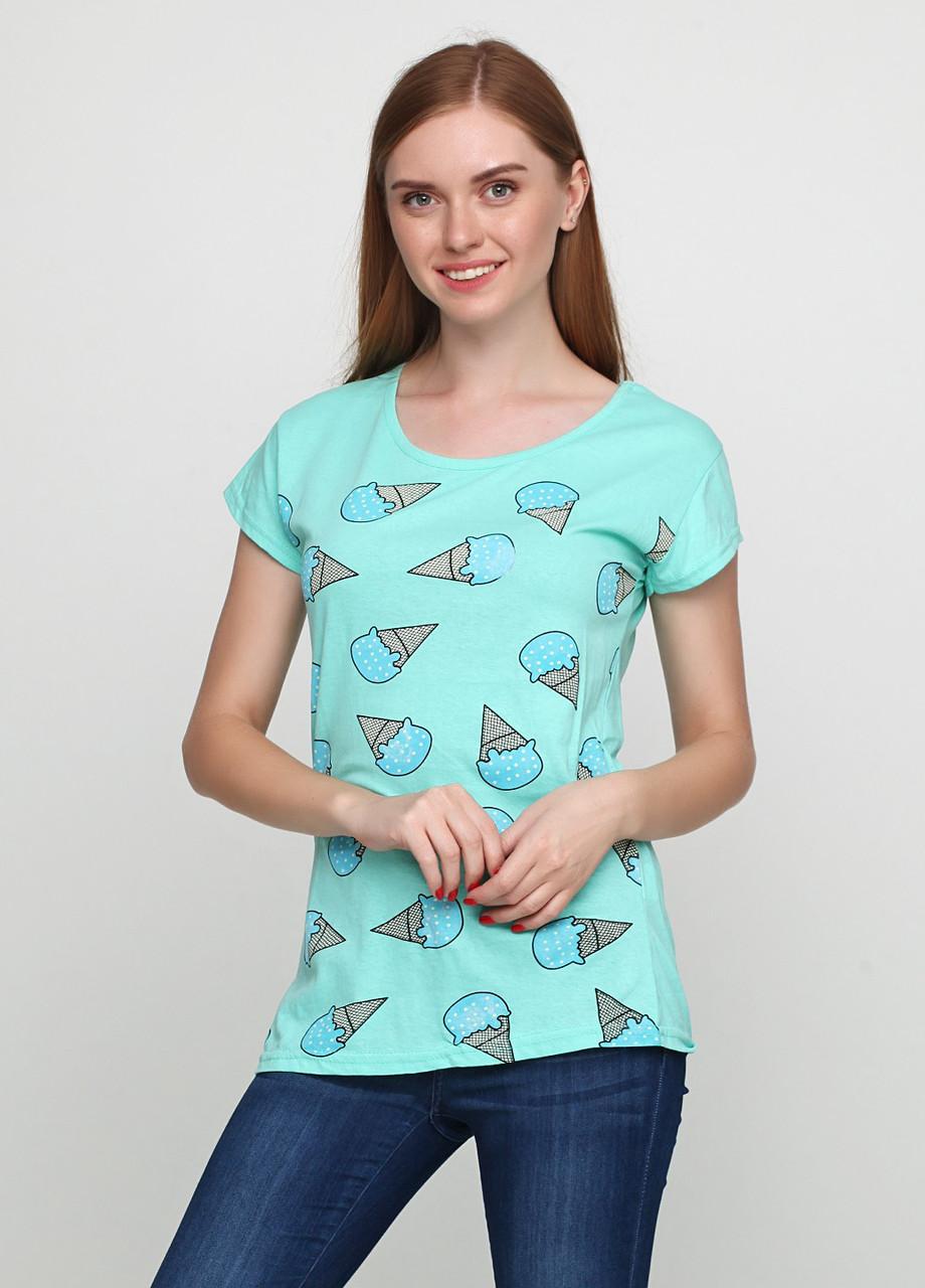 Женская футболка с принтом мороженого