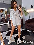Льняной костюм в полоску  (шорты + блейзер), фото 3