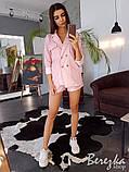 Льняной костюм в полоску  (шорты + блейзер), фото 4