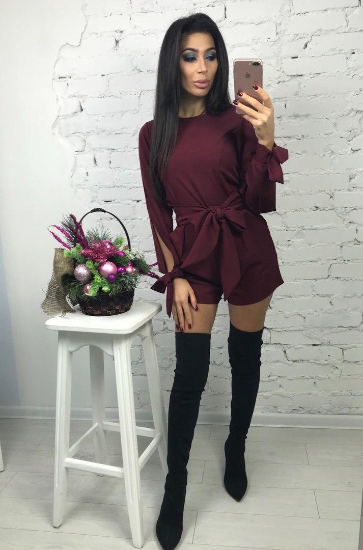 Женский праздничный комбинезон шорты