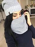 Женский комплект шапка  и хомутом, фото 10