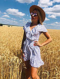 Модное платье с рюшами в горошек, фото 2
