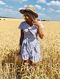 Модное платье с рюшами в горошек, фото 3