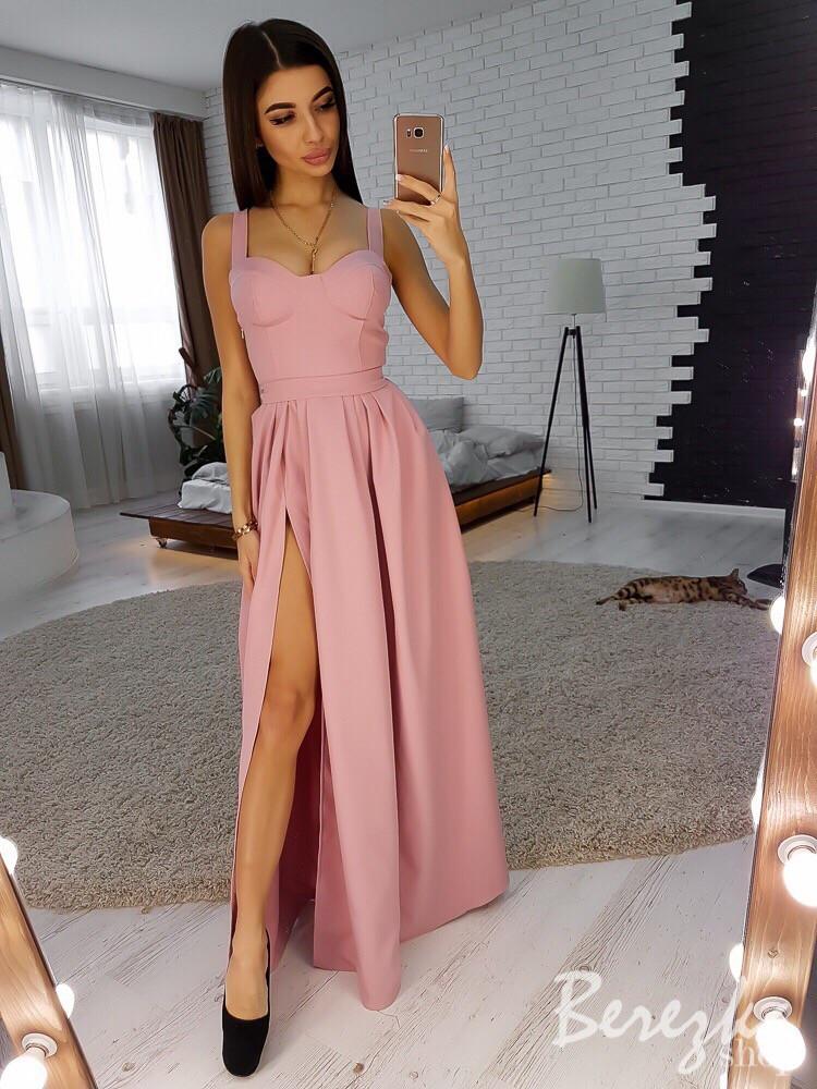 Вечернее платье из креп-костюмки
