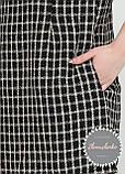 Женское платье клетка с карманами букле твид, фото 2