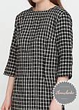 Женское платье клетка с карманами букле твид, фото 4