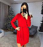 Стильное платье на запах из креп-костюмки люкс качества, фото 2