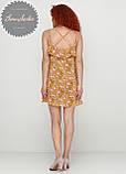 Жіноче легке ніжне плаття в квітковий принт на бретельках, фото 2