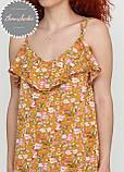 Жіноче легке ніжне плаття в квітковий принт на бретельках, фото 3