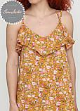 Жіноче легке ніжне плаття в квітковий принт на бретельках, фото 4