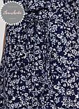 Женское легкое нежное  платье  на запах с рюшей в мелкий принт, фото 3