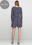 Женское легкое нежное  платье  на запах с воланом в цветочный принт, фото 4