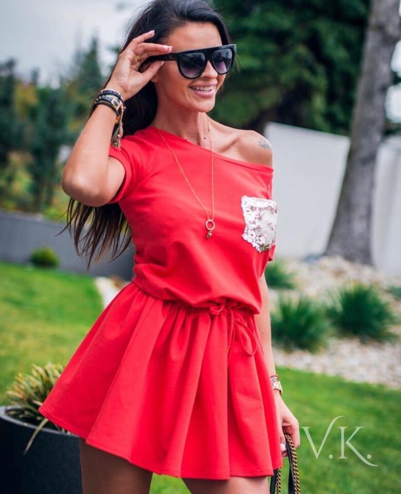 Женское летнее платье из легкого софта
