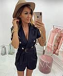 Женский стильный комбез шортами  К-200, фото 4