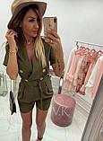 Женский стильный комбез шортами  К-200, фото 5