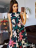 Летнее приталенное платье без рукавов, фото 2