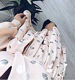 Модное нежное женское платье в горошек, фото 2