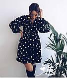 Модное нежное женское платье в горошек, фото 3