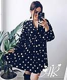 Модное нежное женское платье в горошек, фото 4