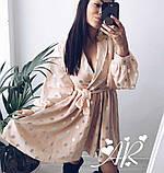 Модное нежное женское платье в горошек, фото 7