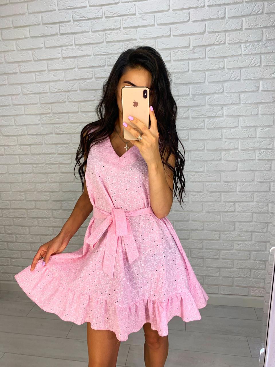 Красивое платье с пояском
