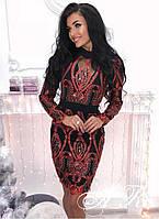 Модное красивое женское платье из дорогого гипюра