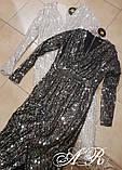 Модное красивое женское вечернее платье на запах, фото 7