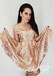 Модное стильное женское вечернее платье из пайетки, фото 4